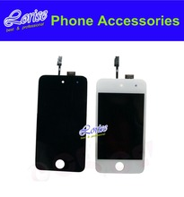 Full Original 1PC For iPod Touch 4 4G LCD Black white LCD Display Touch screen Digitizer Assembly Free shipping !!!