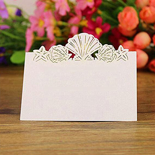 50Pcs Lovely Shell Place Name Cards Wedding Birthday Party Table Setting Decor 50pcs lovely shell place name cards wedding birthday party table setting decor