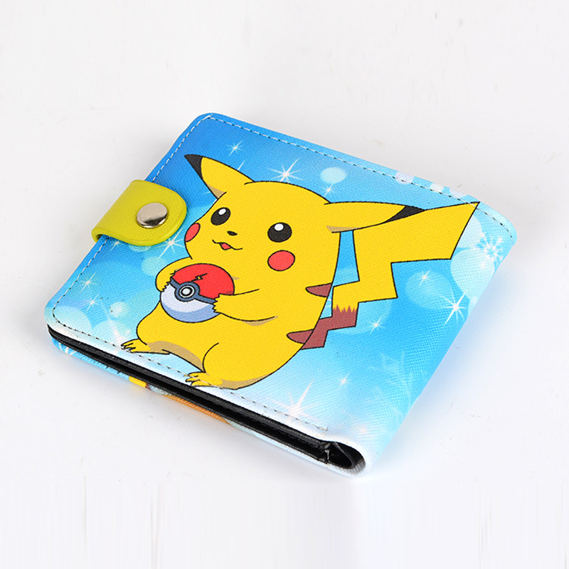 Anime Cartoon Pocket Monster Wallets Pokemon Go Wallet for Teenager Students Women Men Purse Pocketbook with Card Holders