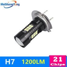 Fog Light H7 H8 H11 HB3 9005 HB4 9006 LED 1200Lm Car Lights LED Bulbs White Running Lights 6000K 12V Driving Lamps цена