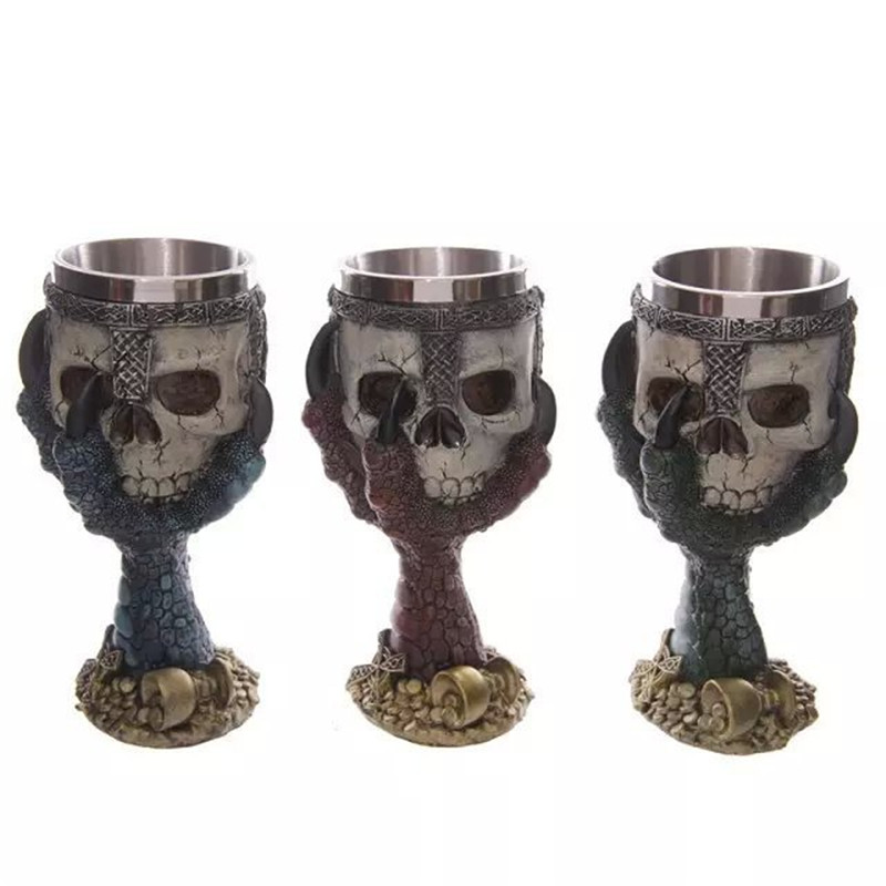 3D Eagle Claws <font><b>Mug</b></font> <font><b>Skull</b></font> <font><b>Goblet</b></font> <font><b>Horror</b></font> <font><b>Novelty</b></font> <font><b>Mugs</b></font> Resin&<font><b>Stainless</b></font> <font><b>Steel</b></font> Drinking Beers Home Essential Drinkware For Party&Bars