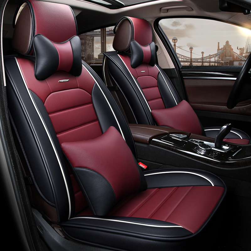 Car Travel Custom Luxury Leather Auto Car Seat Covers