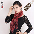 Female autumn winter high quality fur muffler scarf rex rabbit hair muffler scarf design thickening long scarf