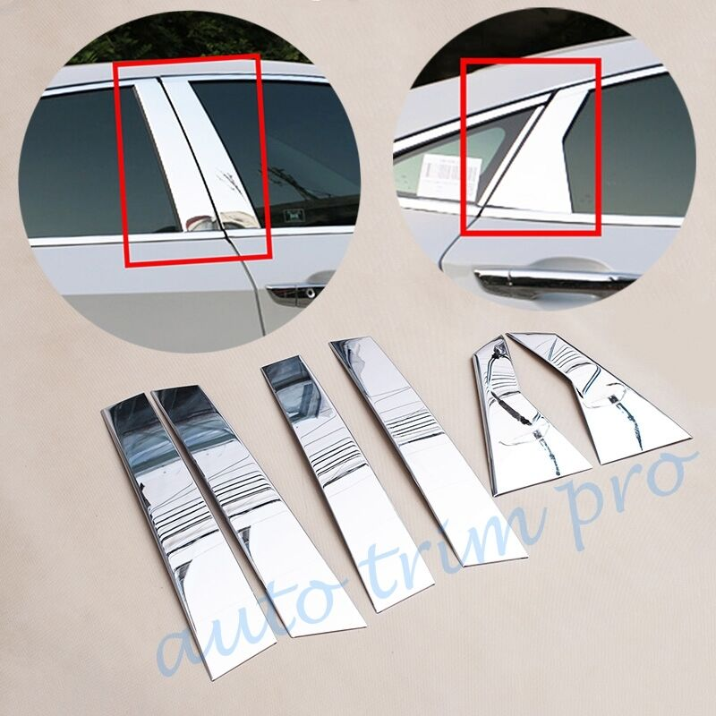 Stainless Steel Car Door Pillar Center Column Cover Protect Stripe Fit For Honda Civic 10th 2016 2017 2018 2019 Accessories