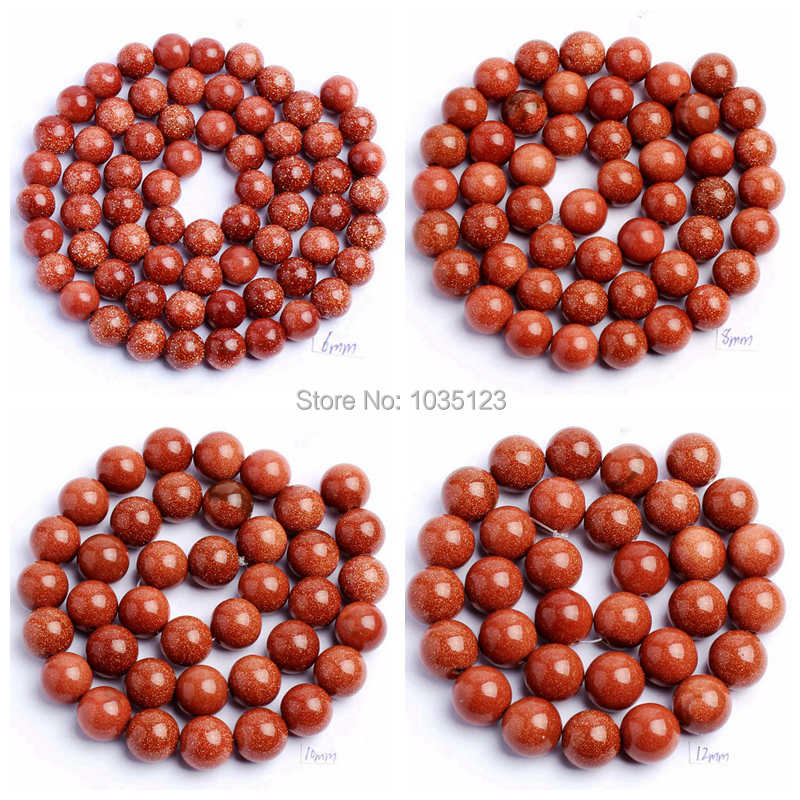 """Free Shipping 4.6.8.10.12mm Smooth Round Shape Red Sandstone DIY Gems Loose Beads Strand 15"""" Jewellery Making wj83"""