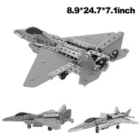Aircraft toys for children Metal Plastic Aircraft Model Faghter Plane Set 485 pcs 3D Puzzl Educational Kids birthday Gift L0605