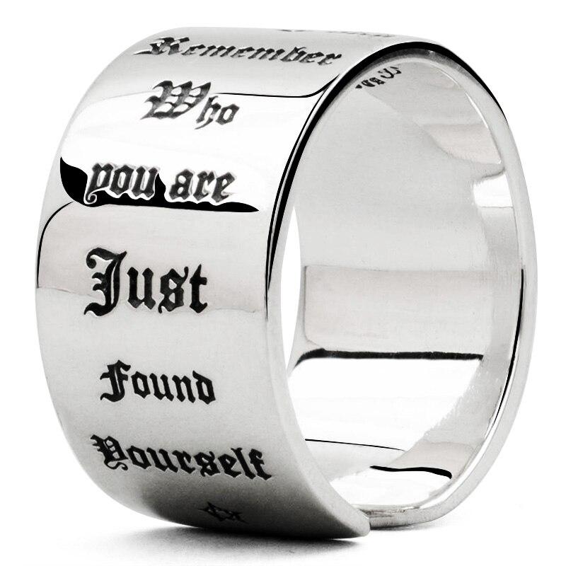 Bible lettres en argent sterling 925 anneaux pour homme Index bague mode bijoux pouce anneau mygrillz