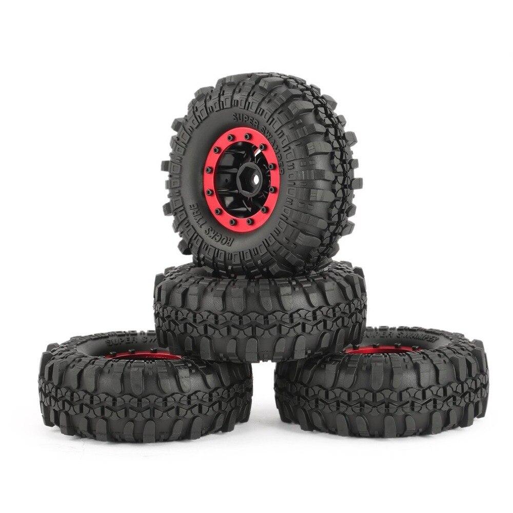 4Pcs RC Rock Crawler Car Parts Rubber Tire AX 4020-5 1.9in 110mm Crawler Tires Wheel Rim for SCX10 RC4WD D90 1/10 RC Toys Part 4pcs 110mm 1 9 rc 1 10 rubber tyres tires for 1 10 rc rock crawler wheels scx10 rc4wd d90 d110