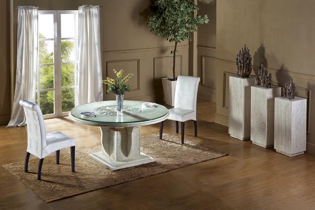 Compra travertino mesa de comedor online al por mayor de - Mesa marmol travertino ...