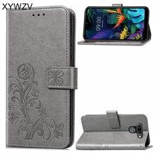 Para LG Caso K50 Filp Carteira de Luxo À Prova de Choque de Silicone Macio Saco Do Telefone Titular do Cartão Caso Fundas Para LG K50 Volta cobrir Para LG K50