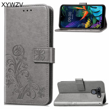 Per LG K50 Cassa Molle Del Silicone Filp del Supporto di Carta Della Cassa Del Sacchetto Del Telefono Del Raccoglitore di Lusso Antiurto Fundas Per LG K50 Posteriore copertura Per LG K50