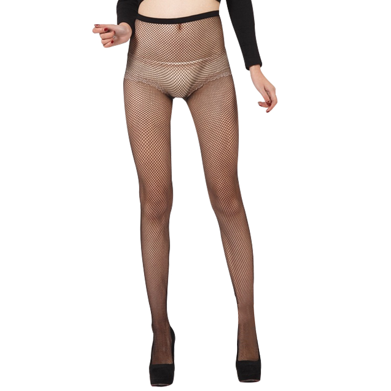 f5b556182 Sexy Mesh Black Hollow Out Pantyhose Female Women Tights Stocking Slim Fishnet  Stockings Club Party Hosiery-in Tights from Underwear   Sleepwears on ...