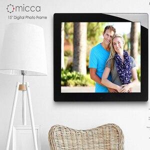 15,4 дюймов HD Цифровая фоторамка MP3 MP4 видеоплеер будильник фоторамки фото цифровые фоторамки