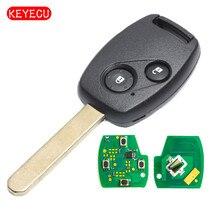 Keyecu Remote Key Fob 2 Button 433MHz ID48 Chip for Honda Jazz Civic, HRV, FRV, Stream CR-V 2002-2005 Euro