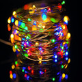 2016  AA Battery Operated 3M 30led Christmas Holiday Wedding Party Decoration Festival LED Copper Wire String Fairy Lights Lamps