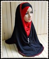 M135 Mix kolorów Mody Gorące Wiertło Zroszony Czapki Długość do Duży Rozmiar w pasie Nowy Nabytek Sprzedaż Hurtowa Pani Modlitwa Muzułmańska Hijabs