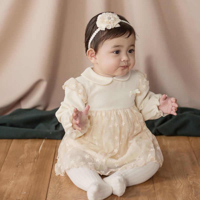 Đầm công chúa cho Mùa Hè, Mùa Thu Mùa Xuân phong cách dễ thương màu đỏ và trắng cho bé trẻ em áo quần áo 2019