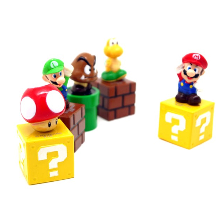 5 Pcs/set <font><b>Super</b></font> <font><b>Mario</b></font> Bros Action Figure Toys 5cm <font><b>cute</b></font> <font><b>cartoon</b></font> mini <font><b>Mario</b></font> Luigi Koopa Troopa Mushroom Model <font><b>PVC</b></font> dolls Collection