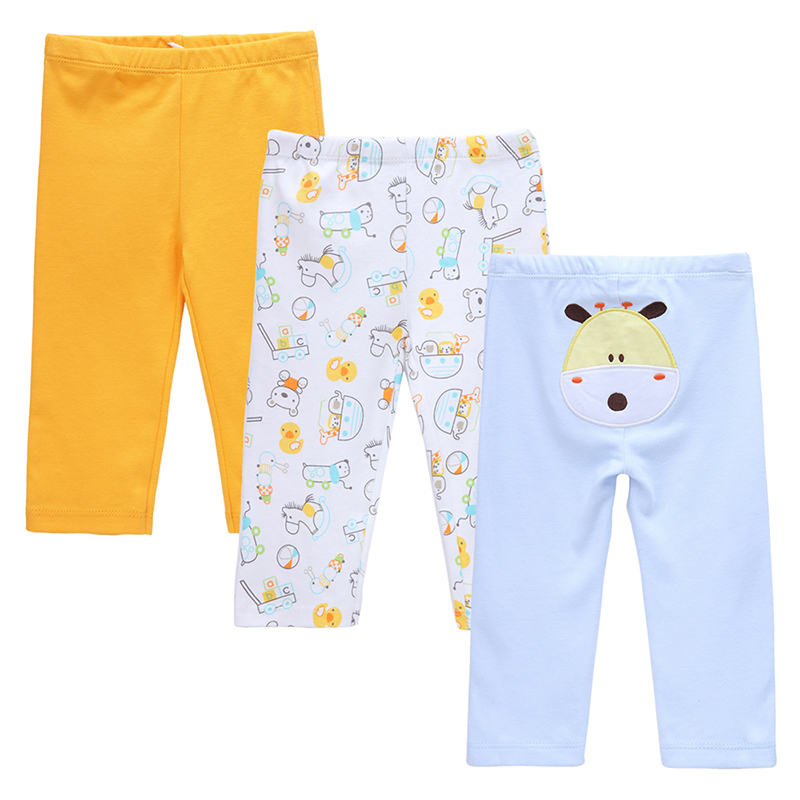 Baby Pants Boy Cartoon Embroidered Animal Girls Leggings Baby Boys Girls 3pcs/pack PP Pants 100% Cotton Trousers Infant Clothing