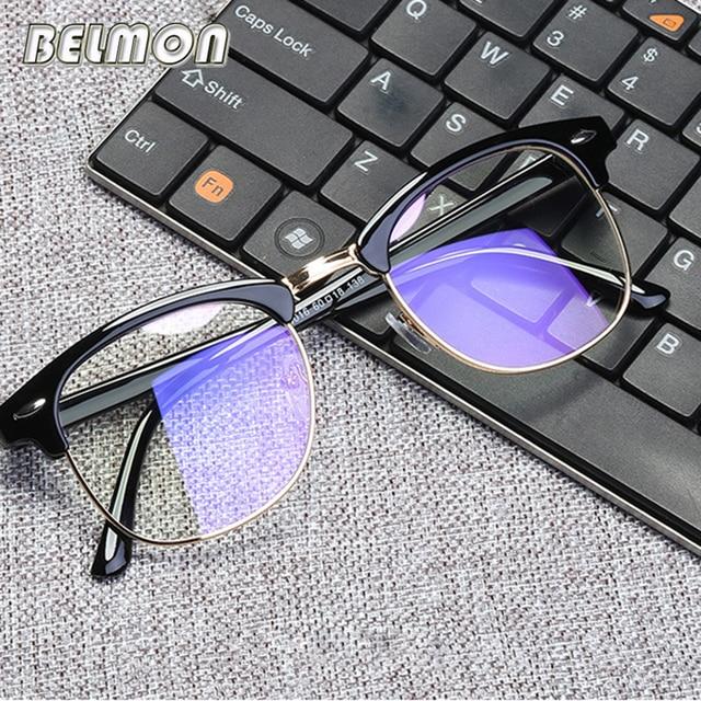 Belmon Spectacle Frame Women Men Eyeglasses Anti Blue Rays Computer Optical Clear Lens Glasses Frame For Female Eyewear Rs820 by Belmon