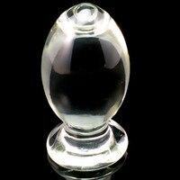 Large Transparent Glass Anal Plug Crystal Butt Plug Big Anal Balls Dilatador Anal Dildo Big Butt Plug Sex Toys For Men Gay