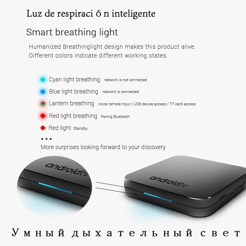 Nuevo 2019 MECOOL KM9 Android 9,0 TV Box Amlogic S905X2 Quad Core 4G DDR4 32G ROM 4 K android 9 Smart TV Box USB 3,0 reproductor de medios - 4