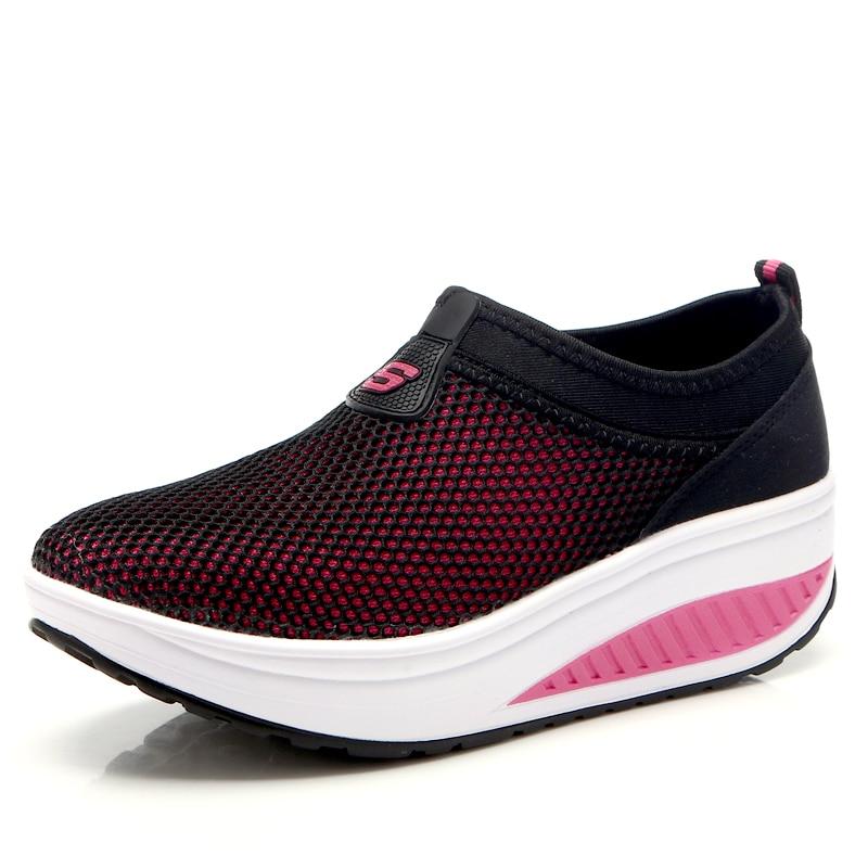 2016 Nyári cipő Nők Causal Shoes Divat Walking Lakások Magasság - Női cipő