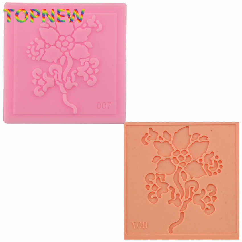 Hot sell Silicone Impressing Mold Mat Fondant Cake Sugar Lace Flower Craft Decorate Tool   2162