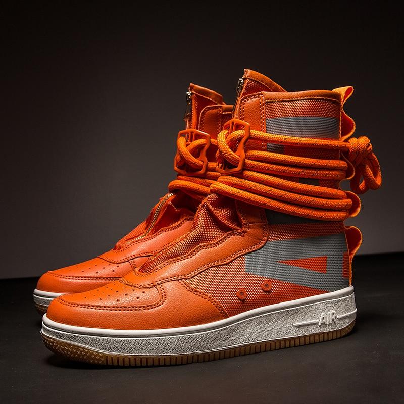 Designer Hip Hop Men boots Casual high top sneakers Men Tenis Sapato Masculino zapatos hombre Basket Man light breathable Shoes
