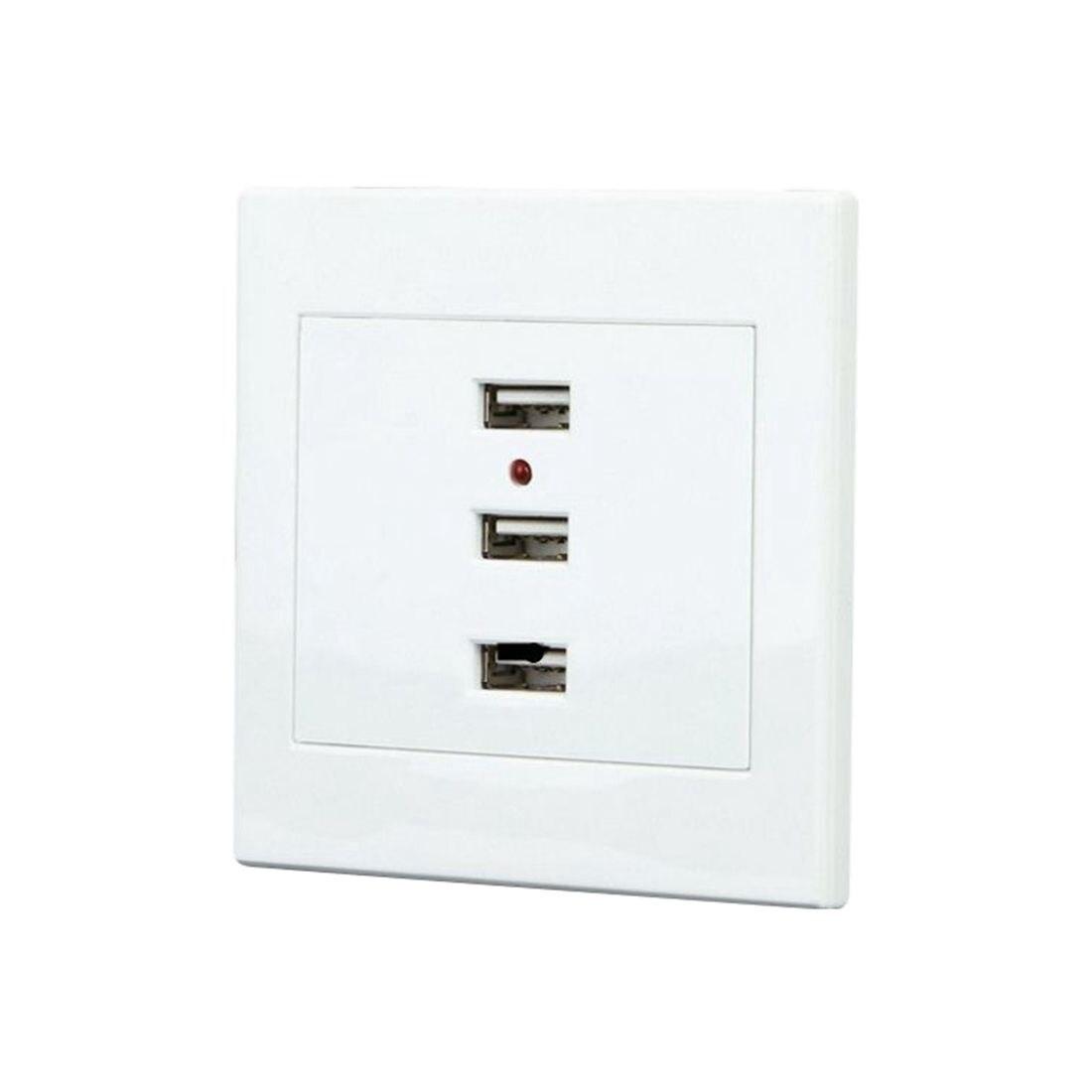 FUNN-3 Ports <font><b>USB</b></font> 2.0 <font><b>Wall</b></font> Plug DC 5V 10A <font><b>Charger</b></font> <font><b>Outlet</b></font> Panel Power Adapter