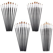 9Pcs Artists Paint Brush Set For Oil Acrylic Watercolor Painting Brushes Kit Nylon Hair Drawing Art Supplies Craft 6pcs wolf hair paint brush set round tip pointed artists paintbrush for watercolor acrylic oil painting art supplies