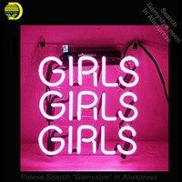 Пивной неоновая вывеска для девочек розового цвета с прозрачными Пластик доска неоновые вывески Стекло трубы лампы неоновые вывески ручно