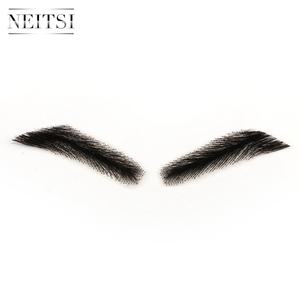 Image 4 - Neitsi Mans One Pair Fake Eyebrows 100% Human Hair Fake Eyebrows Lace Base M1002