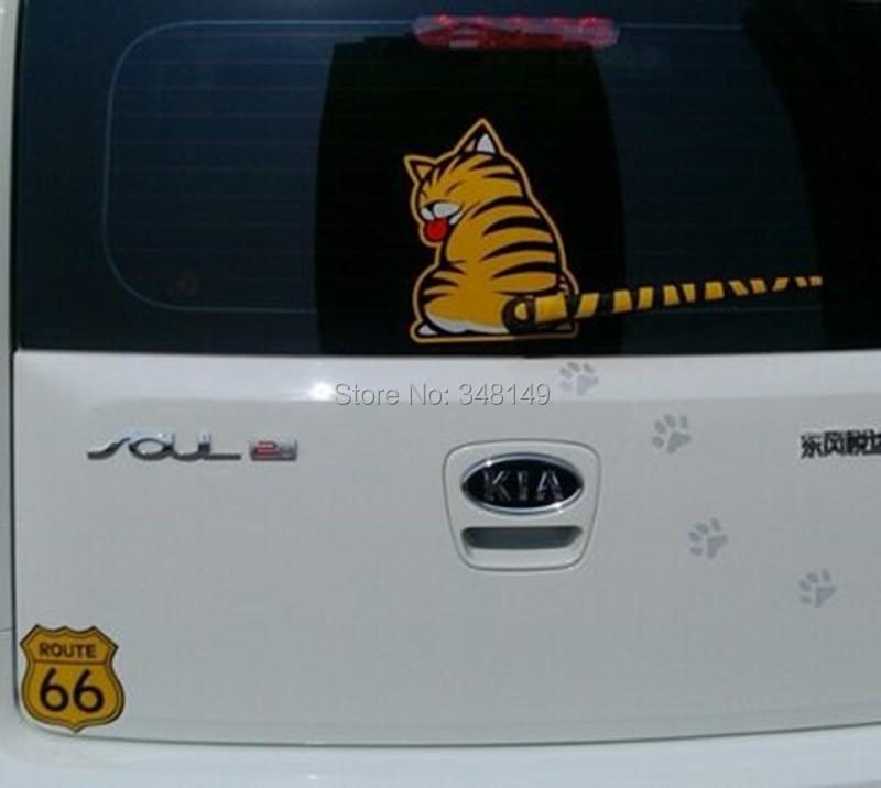 Aliauto Biltillbehör Cat Moving Tail Window Wiper Sticker Bakre - Exteriör biltillbehör - Foto 3