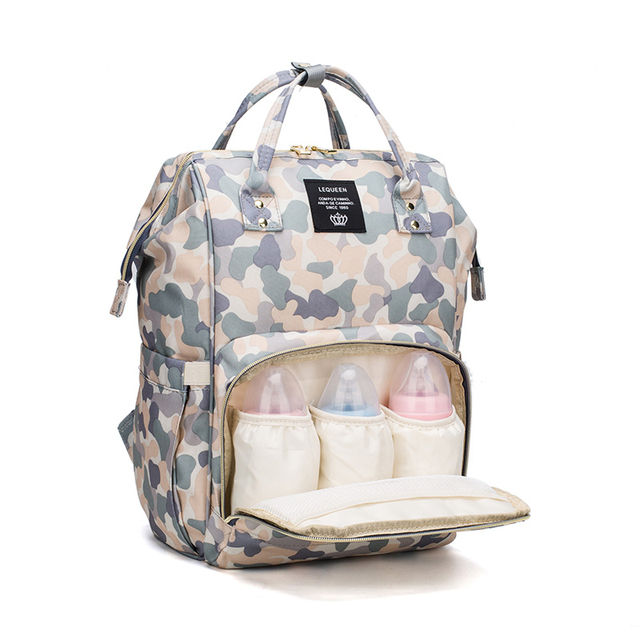 afe6428d1c7a6 Camouflage Mummy Maternity Nappy Bag Large Capacity Baby Travel Backpack  Nursing Bag Baby Care Wet Bag