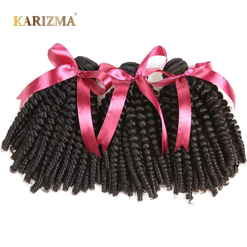 Karizma Mongolian Bouncy Curly Wave Hair Bundles 8 26inch Natural Color 1 Piece Non Remy Hair