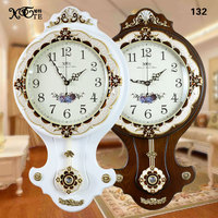 wholesale Large solid wood table clock retro mute girl Arts Crafts Wall clock fashion rustic wall clock pendulum clock mute wall