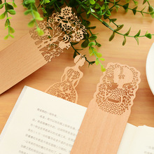Creative Vintage Hollow Flower Wooden Book Mark Clips Bookmarks Marcadores Gift Stationery School Supplies Escolar Papelaria