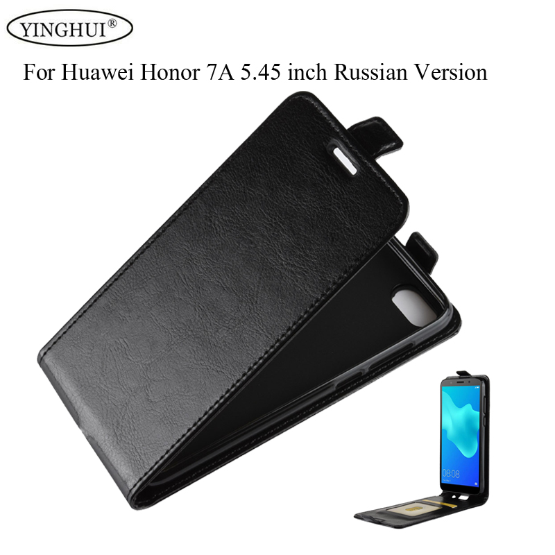 For Huawei Honor 7A Russian Version Case 5.45 inch Cover Flip PU Leather Soft TPU Cover For Honor 7A Russian Version Phone Cases