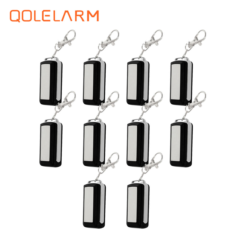 10 pcs wireless 433 MHz portable Metal remote control controller anti theft for wi fi GSM