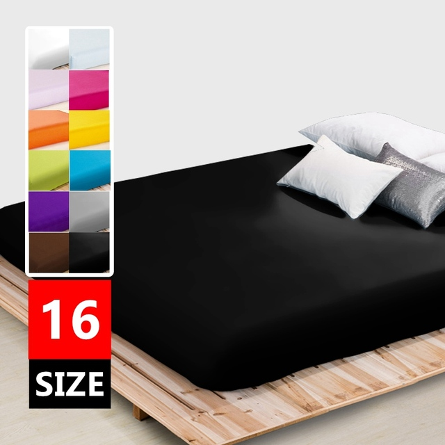plain fitted sheet twin full queen king sizeone piece bed mattress