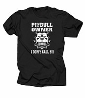 OKOUFEN Pitbull Owner T-Shirt I Don't Call 911 Tee Shirt Dog Pitbull Fan Tee Shirt Short Sleeve Casual Printed Tee Size S-2Xl