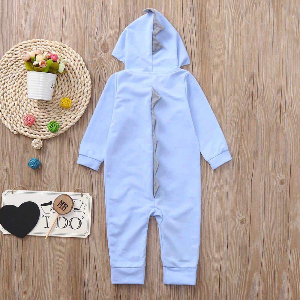 ทารกเด็กวัยหัดเดินเด็กทารกเสื้อคลุมหลวมเด็กชายไดโนเสาร์ Hoodie Romper ซิปเสื้อผ้า Jumpsuit เด็กทารกเสื้อผ้าเสื้อผ้าเด็กทารกใหม่