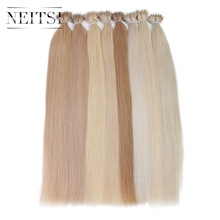 "Neitsi Indian Straight Loop Micro Ring Haar Nano Ringkralen Human Hair Extensions 20 ""1.0g / s 50g 20 kleuren"