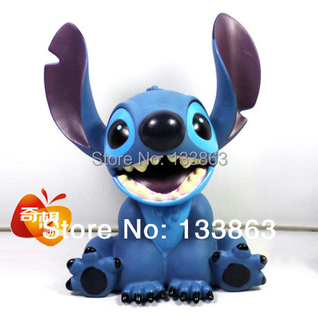 new 2014 18cm high lilo and stitch toy piggy bank, pvc action figure classic toys, kids gift for girls, children boys 10cm lilo