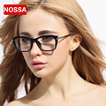 NOSSA Big Frame Black Glasses Women's TR90 Metal Eyeglasses Female Korea Style Eyewear Men's Clear Fashion Glasses Optical Frame