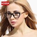 NOSSA Grande Moldura Preta Óculos TR90 Óculos de Metal das Mulheres do Sexo Feminino Óculos dos homens da Coréia Do Estilo Forma Clara Óculos Óptica quadro