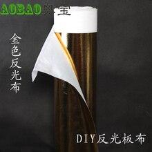 Adearstudio DIY Refletor Fotografia Diy pano de Ouro Dourado Metalizado Filme PET para a placa de papel laminação 1.2*1 m CD50