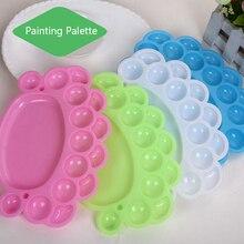 15 колодцев форма следа пластиковая палитра художественная краска пластиковый лоток для рисования цветовая палитра для масляной акварели белая краска ing паллет