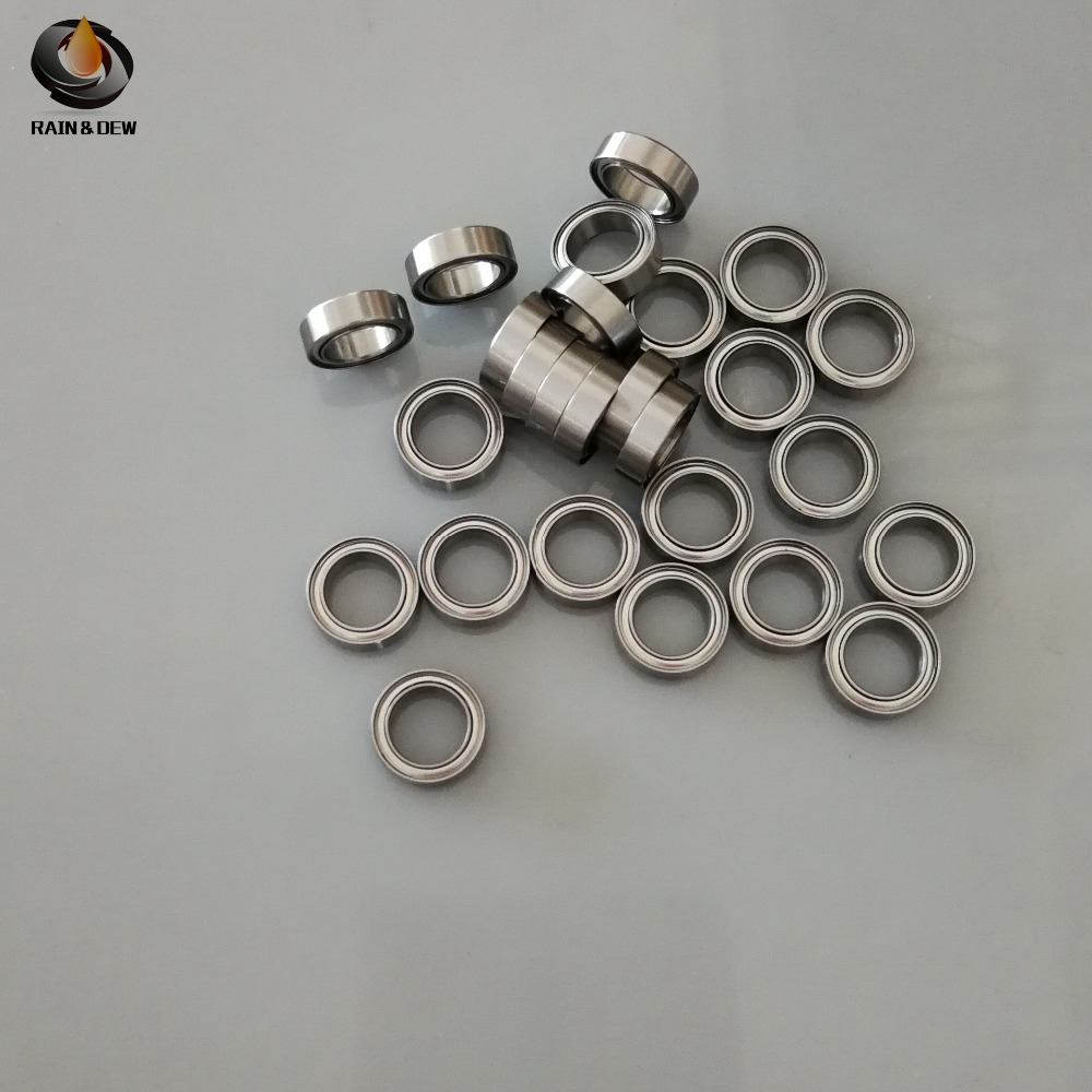 <font><b>MR128ZZ</b></font> Ball Bearing 8x12x3.5 mm 10Pcs ABEC-7 Miniature Metric Chrome Steel L-1280ZZ W678ZZA image